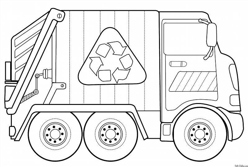 Раскраска мусорной машины
