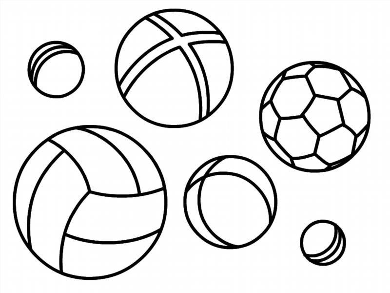 Раскраски мячик для малышей