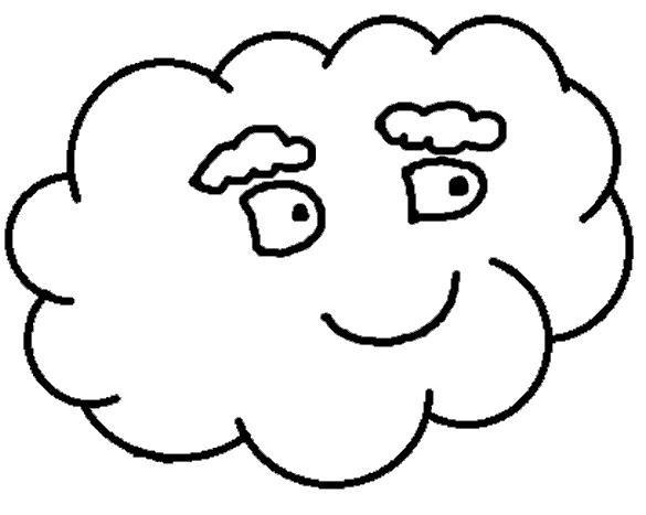 Раскраска с облаками