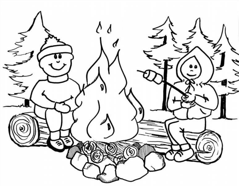 Раскраска огонь друг огонь