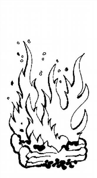 Раскраски на тему огонь наш друг