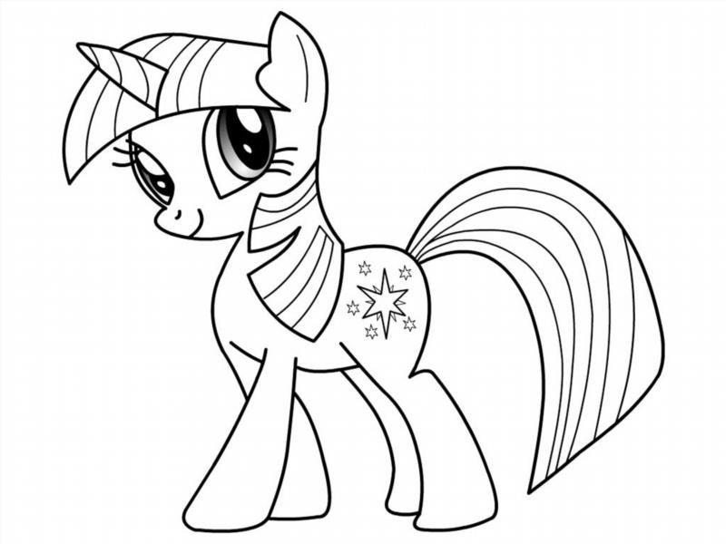 Онлайн раскраски лошадки пони