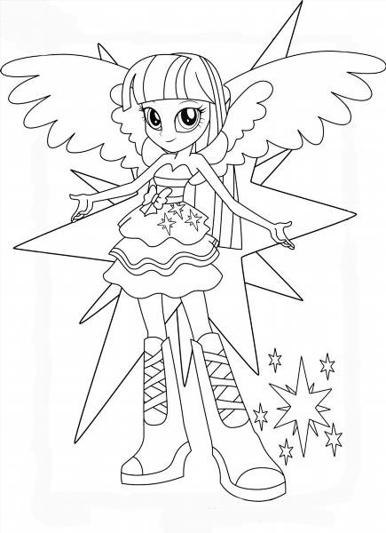 """Раскраски """"принцесса пони искорка"""" скачать и распечатать ..."""
