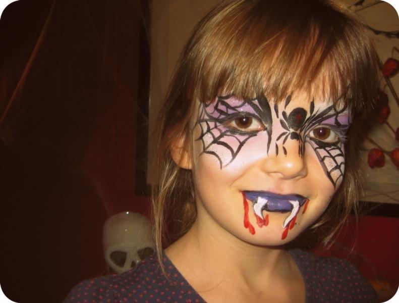 Разрисованные лица на хэллоуин в домашних условиях
