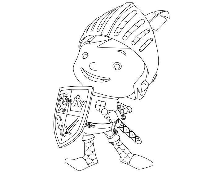 Раскраска рыцарь майк