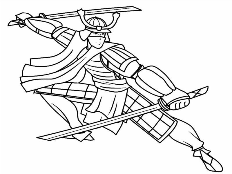 Раскраски самураев распечатать бесплатно