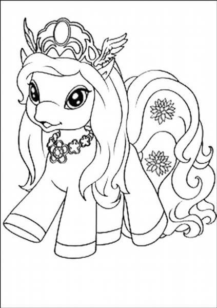 Раскраски пони филя