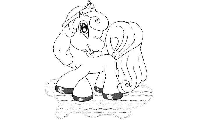 Скачать раскраска с лошадкой