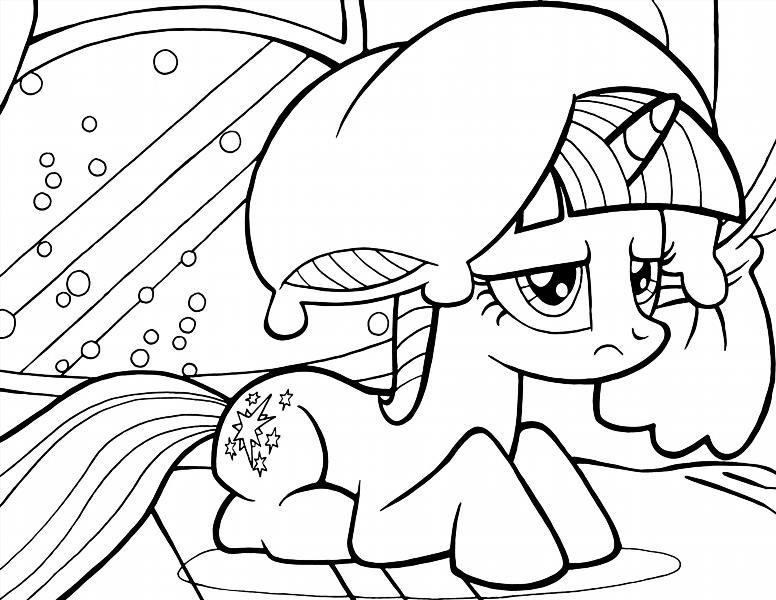 Раскраски пони онлайн бесплатно для девочек - 6