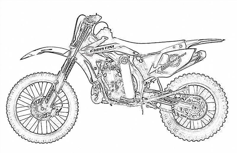 Раскраски для мальчиков мотоциклы распечатать - 2
