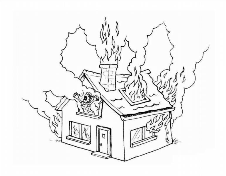 Раскраски по противопожарной безопасности для детей