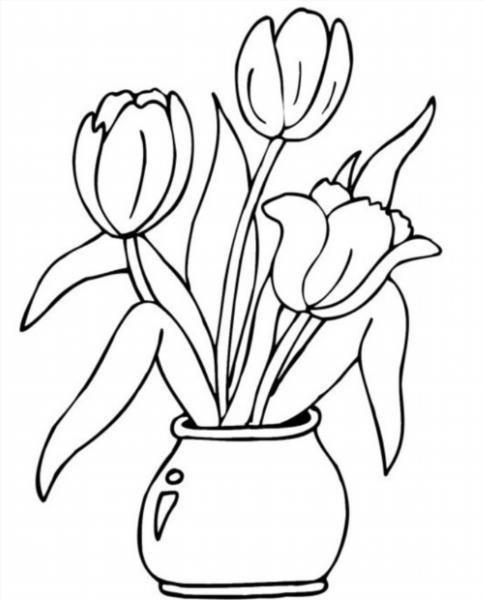 Как нарисовать букет роз в вазе карандашом поэтапно 25