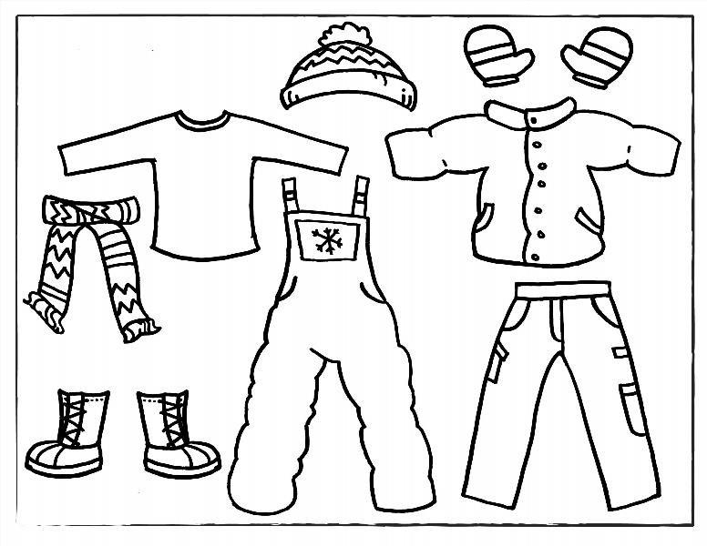 """Раскраски """"одежды"""" скачать и распечатать бесплатно"""