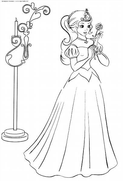 Принцессы в платьях рисунки