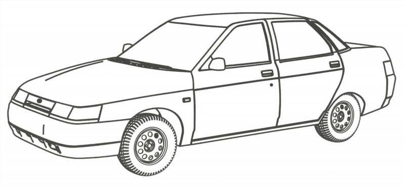 Раскраска автомобиля распечатать