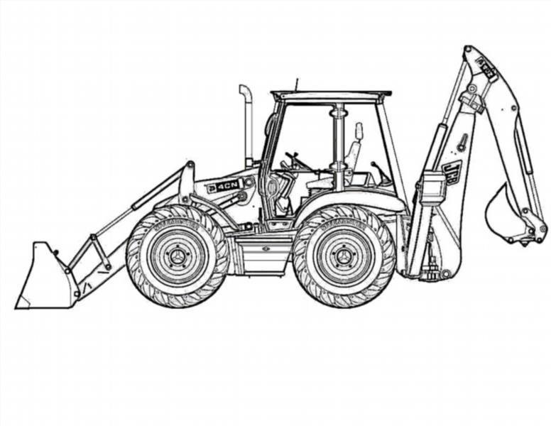 Трактор с прицепом и красный джип - YouTube