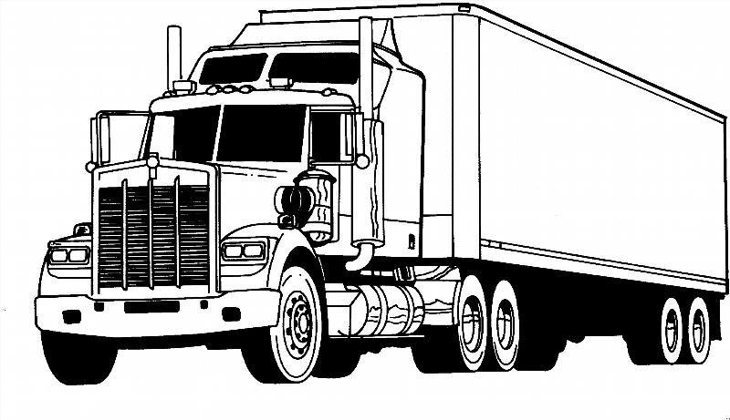 Раскраски для мальчиков грузовые машины распечатать - 1