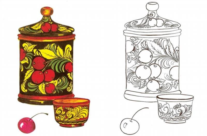 Схемы для вышивки посуды