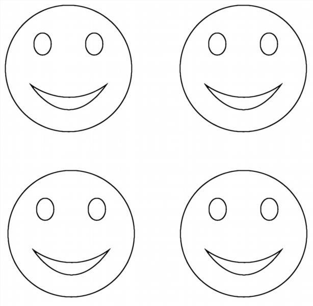 Картинки смайлики разные настроения раскраска
