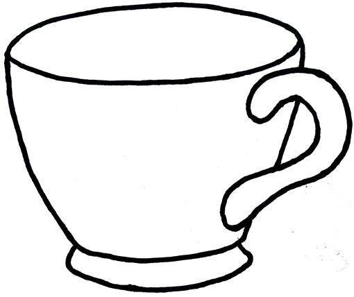 Чашки раскраска для детей