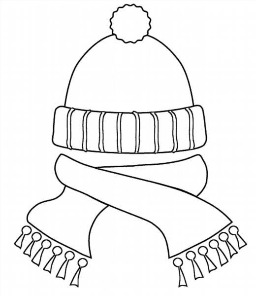 Раскраска для детей шапочка