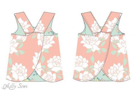 Выкройка нарядного платья для девочки своими руками