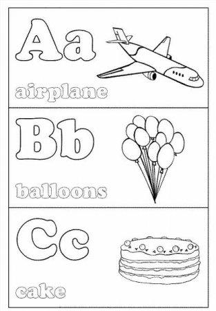 """Раскраски """"английский алфавит - азбука"""" скачать и ..."""