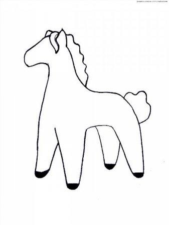 лошадка выкройка дымковская игрушка