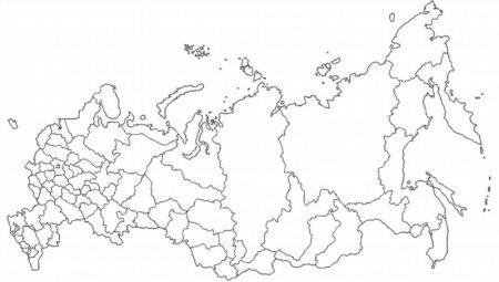 Раскраска карты россии 56