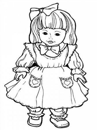 """Раскраски """"кукла в платье"""" скачать и распечатать бесплатно"""