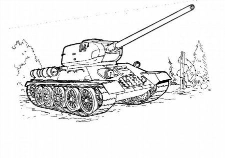 Раскраски танки т-34