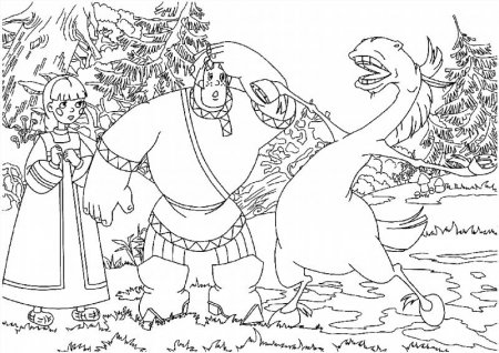 Раскраски трех богатырей распечатать