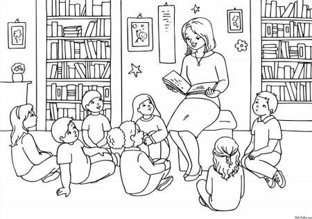 Раскраска профессии учитель