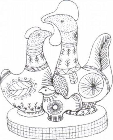 Раскраска филимоновские игрушки