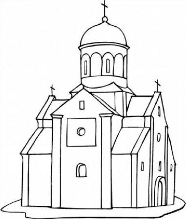 """Раскраски """"православный храм"""" скачать и распечатать бесплатно"""