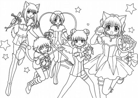 """Раскраски """"аниме девушки кошки"""" скачать и распечатать ..."""