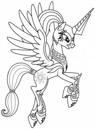 """Раскраски """"пони принцесса селестия"""" скачать и распечатать ..."""