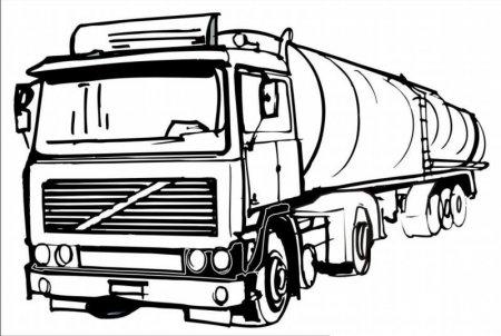Раскраска для мальчиков Фура грузовик  Скачать