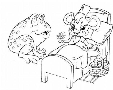"""Раскраски """"сказка о глупом мышонке"""" скачать и распечатать ..."""