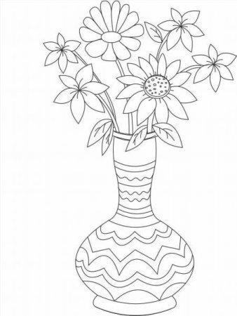 """Раскраски """"цветы в вазе"""" скачать и распечатать бесплатно"""