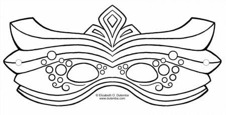 карнавальная маска шаблоны