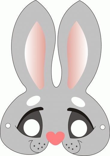 Как сделать маску зайца на голову своими руками