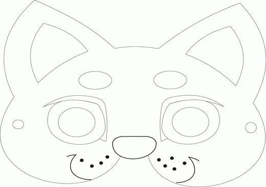 Как сделать маску своими руками из бумаги кошки