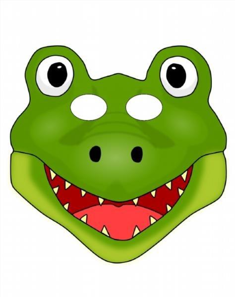 Маска крокодила из бумаги