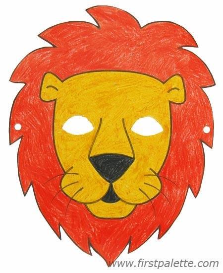 Маска льва из бумаги