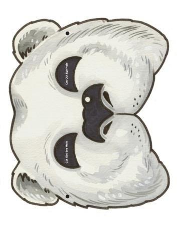 Сделать маску белого медведя своими руками