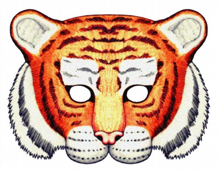 Tiger mask template - animalcarecollege info