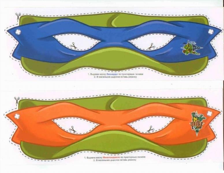 Как сделать маску черепашки ниндзя