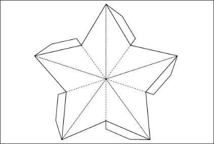 Как сделать объемную звезду из картона пятиконечная 136