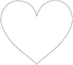 Макет сердечко из бумаги 725